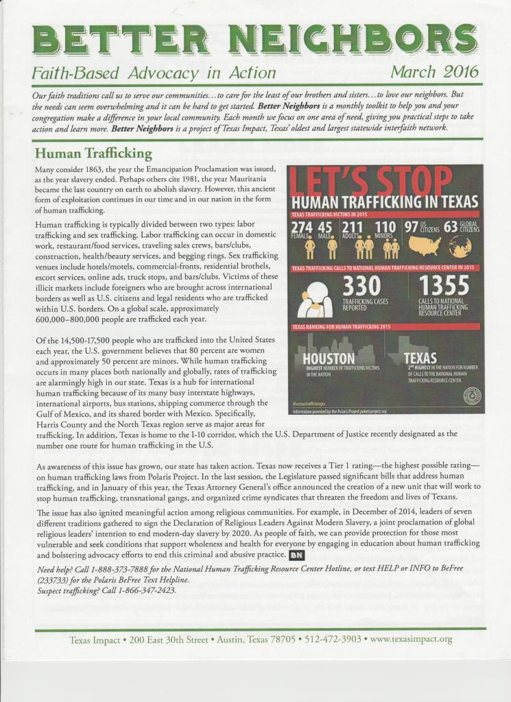 Texas Impact Human Trafficking 001